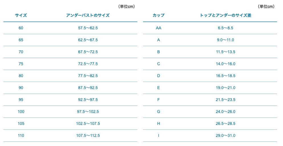 サイズ一覧表